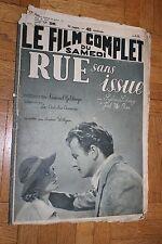 Le film complet du samedi - N°2089 - Rue sans issue - 1938