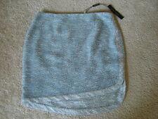 NWT $228 ELIE TAHARI RAVEN Peacock Asymmetric Hem Tweed Mini Skirt Sz 12 fits 10