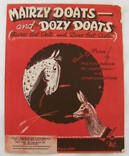 British Sheet Music: Mairzy Doats and Dozy Doats ~ Drake, Hoffman, Livingstone