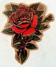 Beautiful Tattoo Style Rose PVC Sticker Rockabilly Luggage Laptop 7 x 8.5 cm