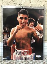 "OSCAR DE LA HOYA SIGNED AUTO 8x10 VINTAGE BOXING PHOTO ""GOLD 92"" FULL SIG PSA 70"