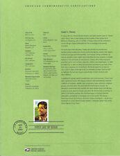 #0315 37c Cesar Chavez Stamp #3781 Souvenir Page