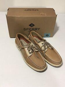 Sperry Men's Billfish 3-Eye Boat Shoe 0799023 Tan/Beige Sz 7.5 New With Box