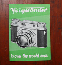 VOIGTLANDER SALES BROCHURE, 12 PAGES, NO PUB CODE/cks/209782