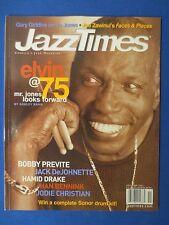 JAZZ TIMES MAGAZINE NOVEMBER 2002 ELVIN JONES AT 79 BOBBY PREVITE HAMID DRAKE