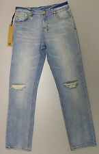 NEW Ksubi BOYFRIEND Blue Distressed Slim Jeans W-27 L-32 Ripped RRP$ 279.95 NWT