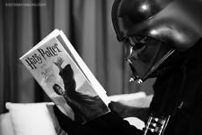Darth Vader reading Harry Potter book star wars enemy learning funny magnet