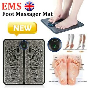 EMS Foot Massager Mat Pad Leg Reshaping Blood Muscle Circulation Pain Relief USB