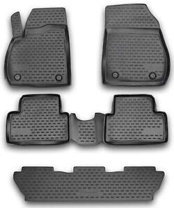 Gummimatten für Opel Zafira Tourer 12- Gummi Fußmatten 5 teilig 3D Schalen Quali