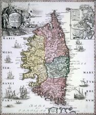 Reproduction carte ancienne - La Corse 1740