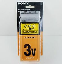 Sony AC Power Adapter AC-E30HG 3V 700 mA 3 Volt New Genuine Sony Orig Packaging