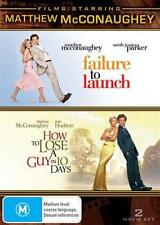 FILMS STARRING Matthew McConaughey FAILURE TO LAUNCH / HOW TO LOSE A GUY DVD NEW