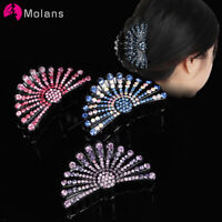 Women's Vintage Rhinestone Hair Claw Crab Clips Crystal Clamps Hair Accessories