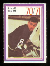 1970-71 ESSO POWER PLAYERS NHL #6 MARC REAUME NM VANCOUVER CANUCKS UNUSED STAMP