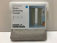 "LIGHTBLOCKING CURTAIN PANEL By ROOM ESSENTIALS 42"" x 84"" COLOR TAN Light Block"
