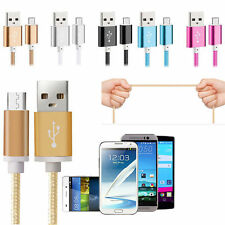Heavy Duty Braided Nylon Lightning USB Sync Data Cable Charger for Android Phone