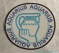 Embroidered Retro Horoscope Astrology Aquarius Water Sign Patch Iron On Sew USA