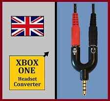 """XBOX uno-Casco con auriculares """"Talkback"""" Adaptador Convertidor XB1 Auriculares con micrófono convertidor Reino Unido"""
