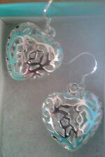 925 Sterling Silver Heart Earring BRAND NEW
