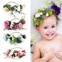 Baby Kids Wedding Flower Hair Garland Crown Headband Floral Wreath Hairband