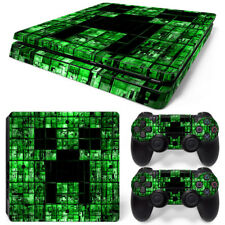 Green - PS4 Slim Protective Skin Stickers Console & 2 Controllers - 0232