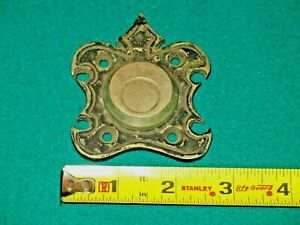 Door Tumbler / Lock Cover Antique Victorian Nickle On Solid Brass Security Keys