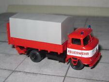 modelltec 14 1052 51 - IFA W-50 L - Prische / Plane - Ladebordwand - Feuerwehr