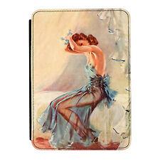 Pin Up Girl Azul Noche Vestido Poster Mini Ipad 1 2 3 Cuero Pu Flip Funda Protectora