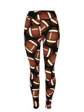 Footballs! NFL College Yoga One Size Leggings OS Buttery Soft FREE SHIPPING