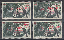 French Africa MNH.1960 red Olympic Air Mail Surcharges for 4 countries, VF