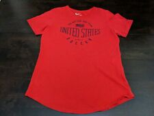 Nike Women's M Soccer Short Sleeve Red Graphic T-shirt EUC