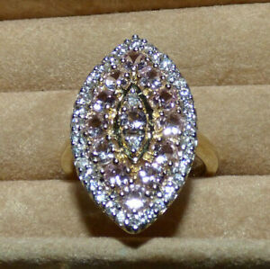 Superb Imperial Pink Topaz Gold Ring - substantial 5.39g