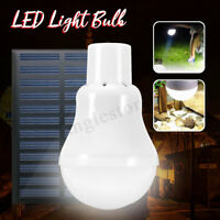 Solar Power Rechargeable Battery LED Fishing Camping Tent Bulb Light Lantern Lam