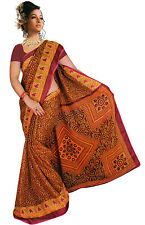 mousseline Bollywood Carnaval SARI ORIENT INDE fo353