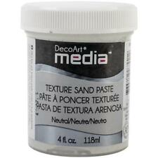DecoArt Media Texture Sand Paste 4oz (118ml) - White DMM23