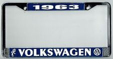1963 Volkswagen VW Bubblehead Vintage California License Plate Frame BUG BUS T-3