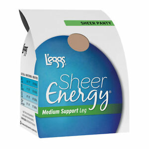 2 L'eggs Sheer Energy All Sheer Pantyhose 608S
