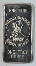 Cleveland Crusaders WHA World Hockey Association 1oz .999 Fine Silver Bar
