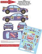 DECALS 1/24 REF 30 SUBARU IMPREZA WRX POUTOT RALLYE MONTE CARLO 1996 RALLY WRC
