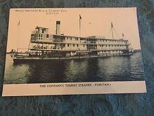 1915 Anglo American Nile Cairo Egypt Puritan Steamship Post Card