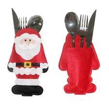 Weihnachten Tischläufer Besteck Dekorationen Weihnachtsmann