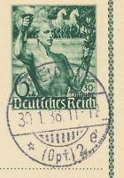 DT.REICH 1938 Sonderpostkarte 5. Jahrestag des 30. Januar 1933 6 + 4 Pf WEIDEN