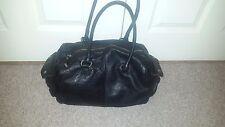 GAP Real Leather Black Bowler Tote Bag