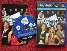 WORLD POKER TOUR  ORIGINAL BLACK LABEL SONY PLAYSTATION 2 PS2 PAL