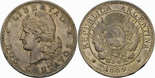 Argentinien 2 Centavos 1889 Dos Centavos Libertad Republica Argentina KM 33