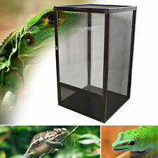 Reptile Cage Critter Condo Snake Lizard Bearded Dragon Stainless Steel Black Us