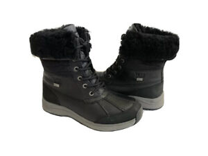 UGG ADIRONDACK III VELVET CROC BLACK WATERPROOF Boot US 8 / EU 39 / UK 6