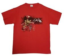 Dale Earnhardt Jr 2007 Schedule Budweiser Red Graphic Tee Shirt Mens Size Large