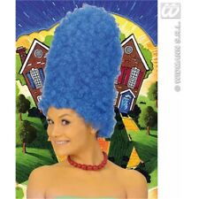 Blue Marge Simpson Style Cartoon Wig - Simpsons Dame Fancy Dress New