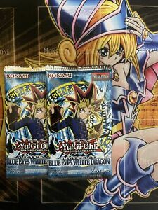 2 x YuGiOh Legend of Blue-Eyes White Dragon Booster Packs - LOB - New/Sealed (1)